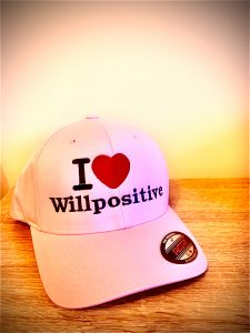WillPositive Ladies Baseball cap. £32.99. Available in S/M size. Email: info@williamosullivan.co.uk if interested.